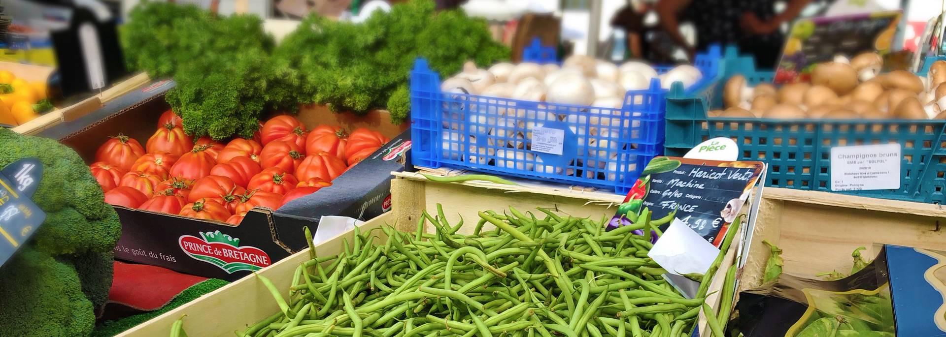 Les marchés - Crédit photo : Marie-Laura Grosse