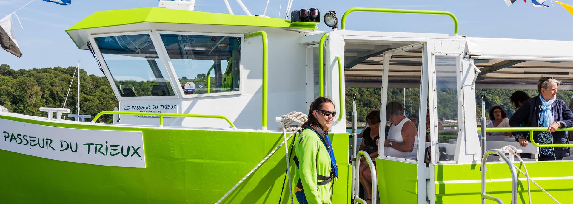 Le bateau passeur du Trieux ©L'Oeil de Paco