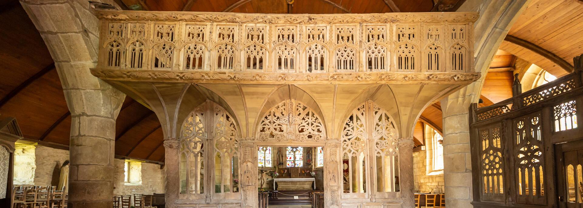 Jubé de l'église de Loc-Envel © E-Berthier