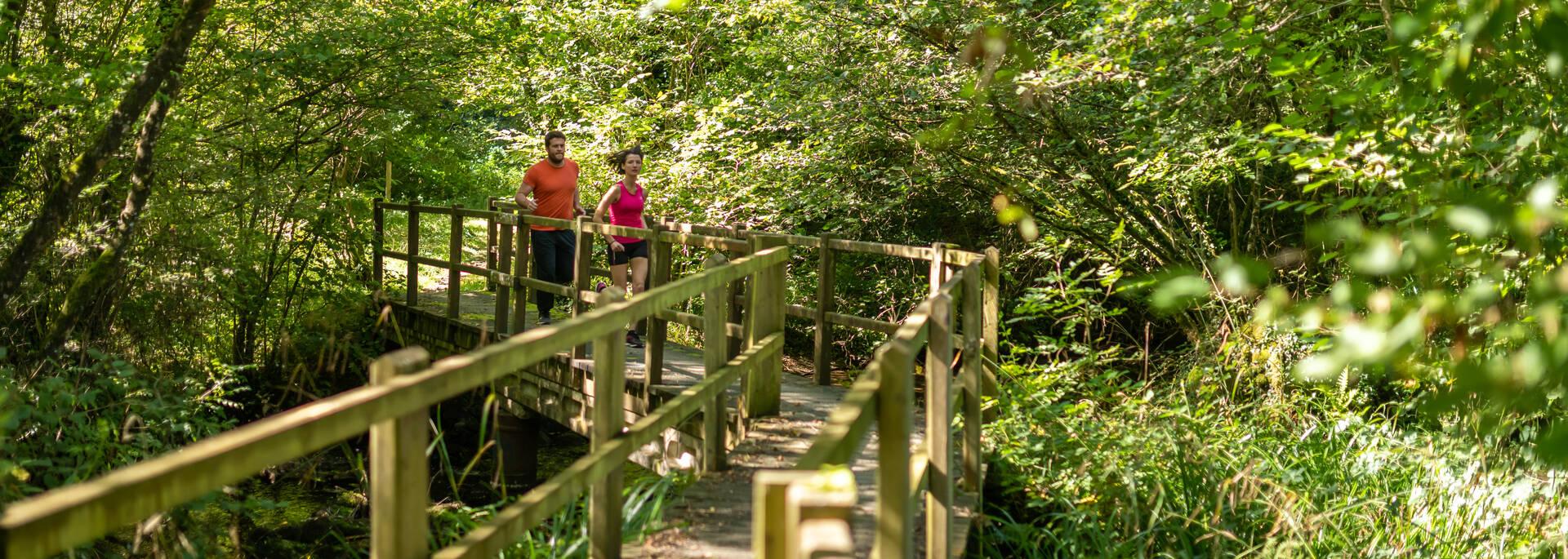 Trail à la Station sports et nature de Belle-Isle-En-Terre © E. Berthier