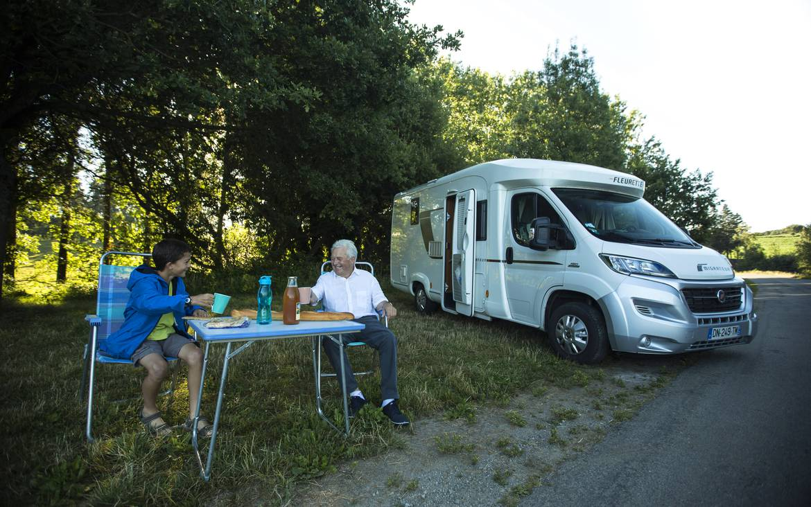 Accueil des camping-cars ©Y. Derennes