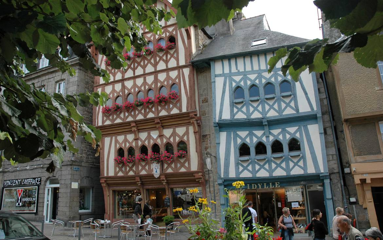 Maisons à pans de bois à Guingamp ©R. Chermat
