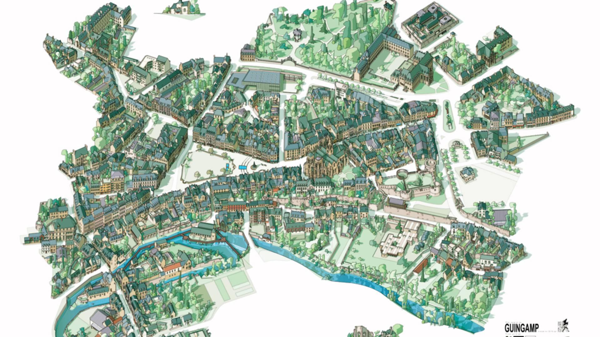 Plan cavalier Guingamp ©Alexandre Lamoureux